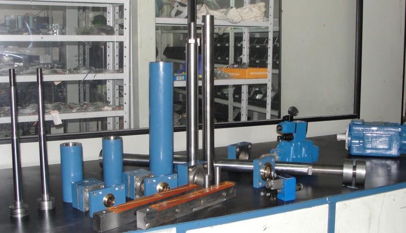 Construção de cilindros hidráulicos